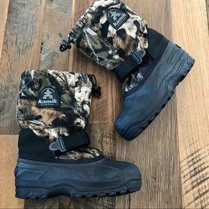 Kamik Camo winter snow Boots Men's 6